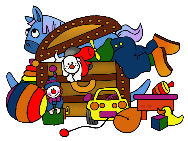 Toys And Games Clip Art By Phillip Martin Toy Chest